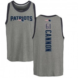 Men's Marcus Cannon New England Patriots Backer Tri-Blend Tank Top - Ash