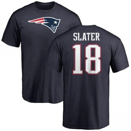 Men's Matthew Slater New England Patriots Name & Number Logo T-Shirt - Navy