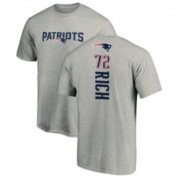 Men's Max Rich New England Patriots Backer T-Shirt - Ash