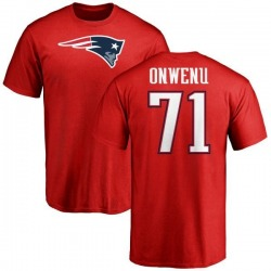 Men's Michael Onwenu New England Patriots Name & Number Logo T-Shirt - Red