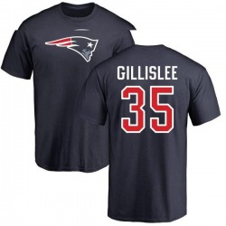 Men's Mike Gillislee New England Patriots Name & Number Logo T-Shirt - Navy
