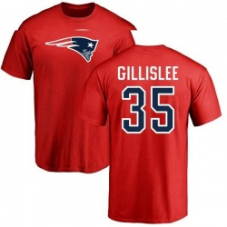 Men's Mike Gillislee New England Patriots Name & Number Logo T-Shirt - Red