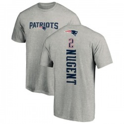 Men's Mike Nugent New England Patriots Backer T-Shirt - Ash