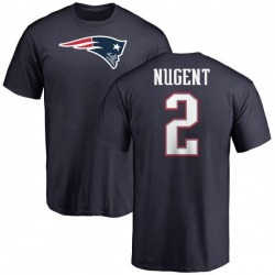 Men's Mike Nugent New England Patriots Name & Number Logo T-Shirt - Navy