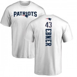 Men's Nate Ebner New England Patriots Backer T-Shirt - White