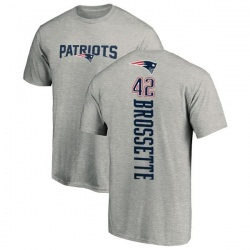 Men's Nick Brossette New England Patriots Backer T-Shirt - Ash