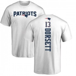 Men's Phillip Dorsett New England Patriots Backer T-Shirt - White