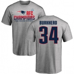 Men's Rex Burkhead New England Patriots 2017 AFC Champions T-Shirt - Heathered Gray