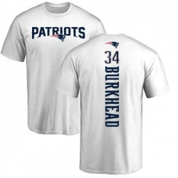 Men's Rex Burkhead New England Patriots Backer T-Shirt - White