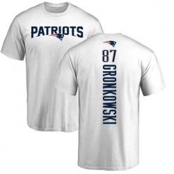 Men's Rob Gronkowski New England Patriots Backer T-Shirt - White