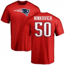 Men's Rob Ninkovich New England Patriots Name & Number Logo T-Shirt - Red