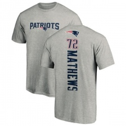 Men's Ryker Mathews New England Patriots Backer T-Shirt - Ash