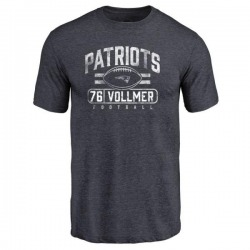 Men's Sebastian Vollmer New England Patriots Flanker Tri-Blend T-Shirt - Navy