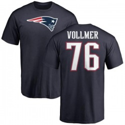 Men's Sebastian Vollmer New England Patriots Name & Number Logo T-Shirt - Navy