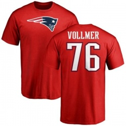 Men's Sebastian Vollmer New England Patriots Name & Number Logo T-Shirt - Red