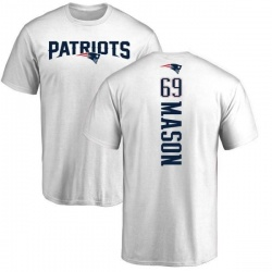 Men's Shaq Mason New England Patriots Backer T-Shirt - White