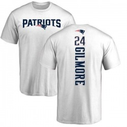 Men's Stephon Gilmore New England Patriots Backer T-Shirt - White