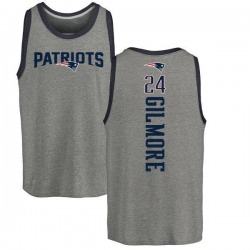 Men's Stephon Gilmore New England Patriots Backer Tri-Blend Tank Top - Ash