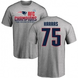 Men's Ted Karras New England Patriots 2017 AFC Champions T-Shirt - Heathered Gray