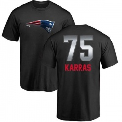 Men's Ted Karras New England Patriots Midnight Mascot T-Shirt - Black