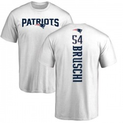 Men's Tedy Bruschi New England Patriots Backer T-Shirt - White