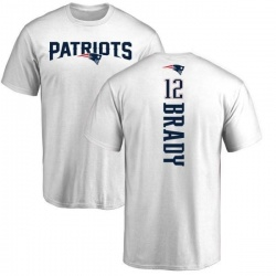 Men's Tom Brady New England Patriots Backer T-Shirt - White