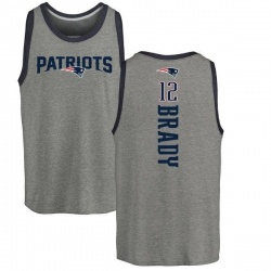 Men's Tom Brady New England Patriots Backer Tri-Blend Tank Top - Ash