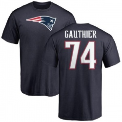 Men's Tyler Gauthier New England Patriots Name & Number Logo T-Shirt - Navy