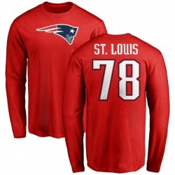 Men's Tyree St. Louis New England Patriots Name & Number Logo Long Sleeve T-Shirt - Red