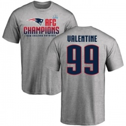 Men's Vincent Valentine New England Patriots 2017 AFC Champions T-Shirt - Heathered Gray