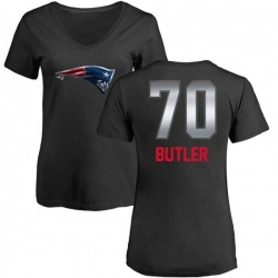 Women's Adam Butler New England Patriots Midnight Mascot T-Shirt - Black