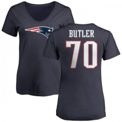 Women's Adam Butler New England Patriots Name & Number Logo T-Shirt - Navy