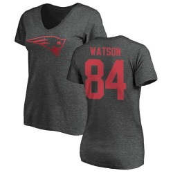 Women's Benjamin Watson New England Patriots One Color T-Shirt - Ash