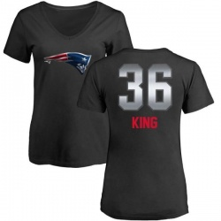 Women's Brandon King New England Patriots Midnight Mascot T-Shirt - Black