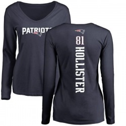 Women's Cody Hollister New England Patriots Backer Slim Fit Long Sleeve T-Shirt - Navy
