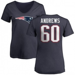Women's David Andrews New England Patriots Name & Number Logo T-Shirt - Navy