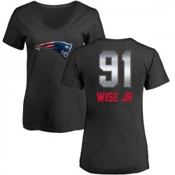 Women's Deatrich Wise Jr. New England Patriots Midnight Mascot T-Shirt - Black