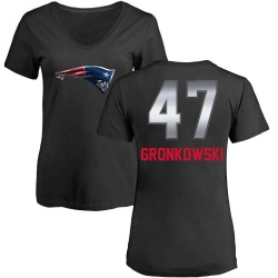 Women's Glenn Gronkowski New England Patriots Midnight Mascot T-Shirt - Black