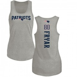 Women's Irving Fryar New England Patriots Backer Tri-Blend Tank Top - Ash