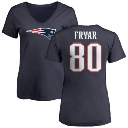 Women's Irving Fryar New England Patriots Name & Number Logo T-Shirt - Navy