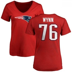 Women's Isaiah Wynn New England Patriots Name & Number Logo Slim Fit T-Shirt - Red