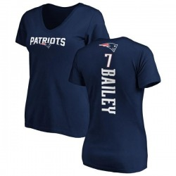 Women's Jake Bailey New England Patriots Backer Slim Fit T-Shirt - Navy