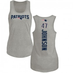 Women's Jakob Johnson New England Patriots Backer Tri-Blend Tank Top - Ash