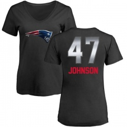 Women's Jakob Johnson New England Patriots Midnight Mascot T-Shirt - Black