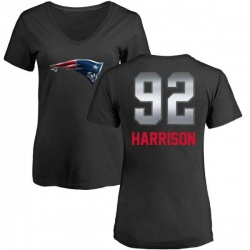 Women's James Harrison New England Patriots Midnight Mascot T-Shirt - Black