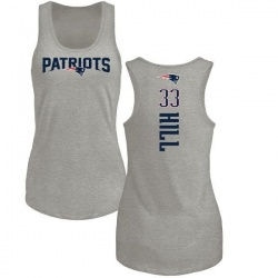 Women's Jeremy Hill New England Patriots Backer Tri-Blend Tank Top - Ash