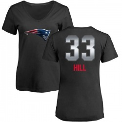 Women's Jeremy Hill New England Patriots Midnight Mascot T-Shirt - Black