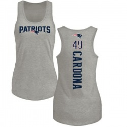 Women's Joe Cardona New England Patriots Backer Tri-Blend Tank Top - Ash