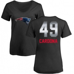Women's Joe Cardona New England Patriots Midnight Mascot T-Shirt - Black