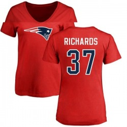 Women's Jordan Richards New England Patriots Name & Number Logo Slim Fit T-Shirt - Red